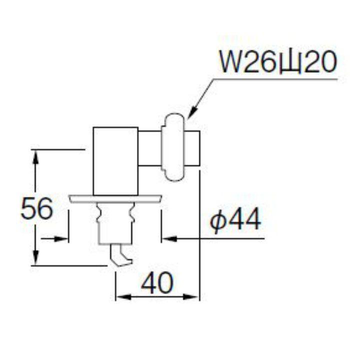 PY124-41TVX-16 洗濯機用L型ニップル