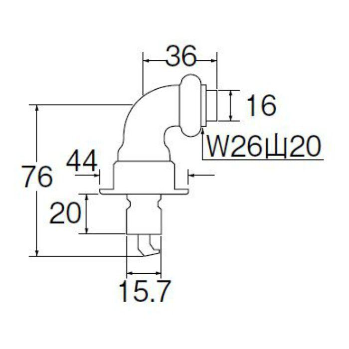 PY12-40X 洗濯機用L型ニップル