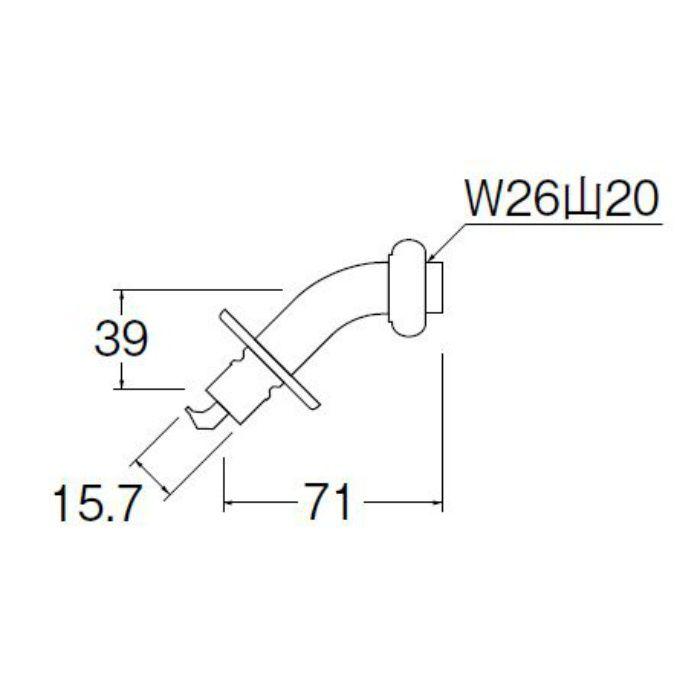 PY121-4TVX-16 洗濯機用L型ニップル