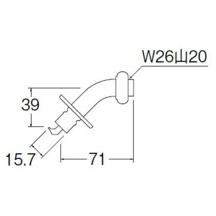 PY122-4TVX-16 洗濯機用L型ニップル