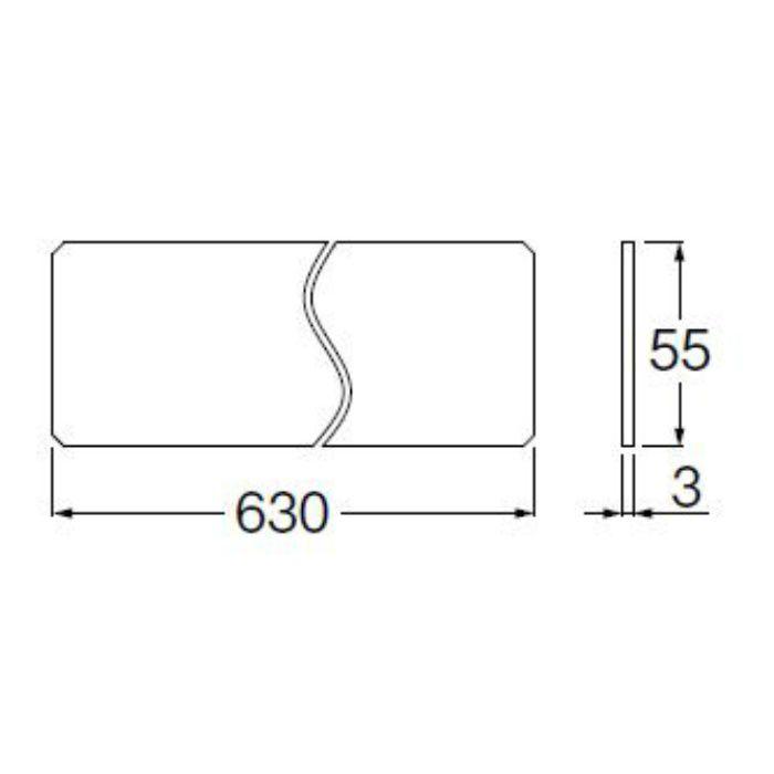 H54130-1 かさ上げ台安全プレート