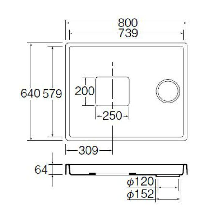 H542-800 洗濯機パン アイボリーホワイト