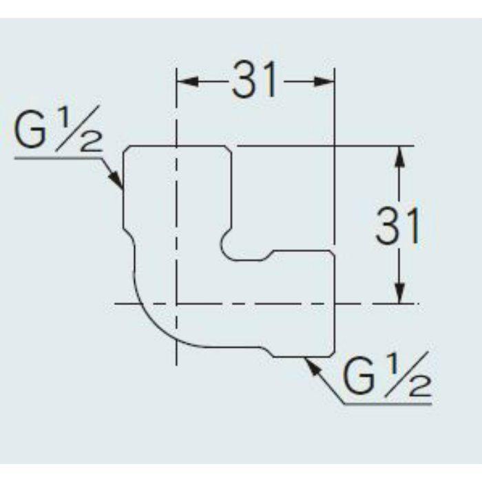 646-002-13 配管継手 フレキ用エルボ 13