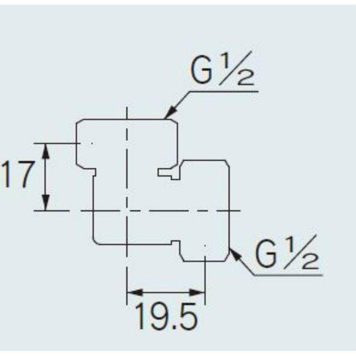 646-115-13 配管継手 両ナットつき小曲りエルボ 13