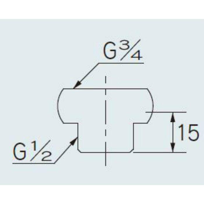 6139 配管継手 給湯機用ニップル 20×13