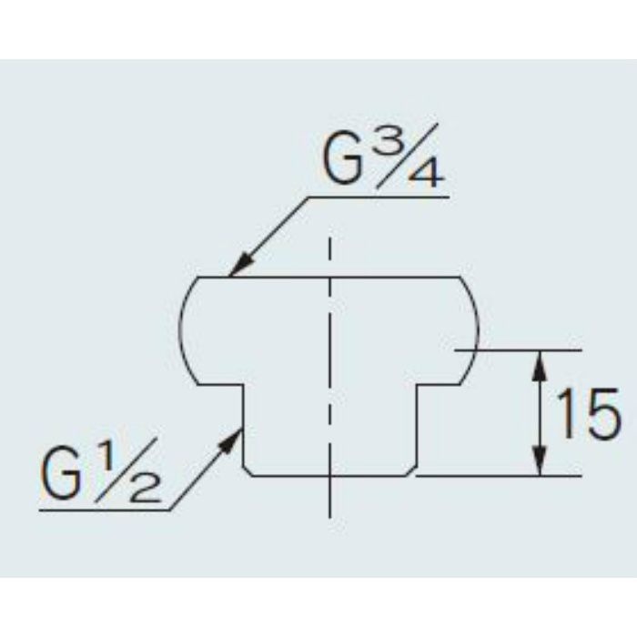 613-901 配管継手 給湯機用ニップル 20×13