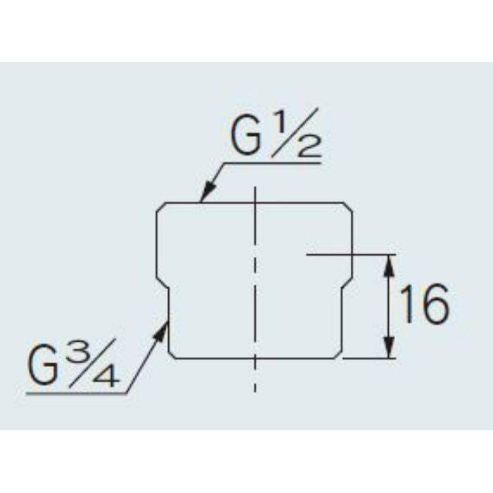 616-720-13 配管継手 平行ブッシング 20×13