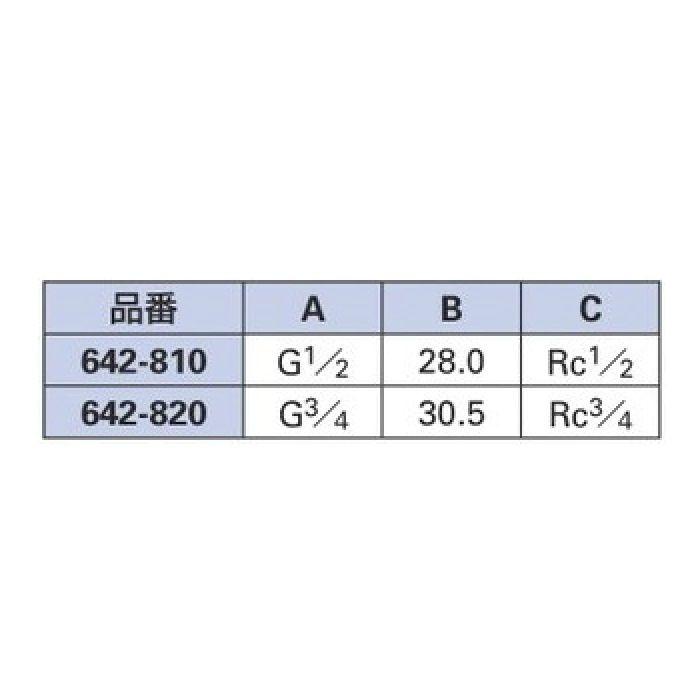 642-810 配管継手 ネジ変換アダプターC 13