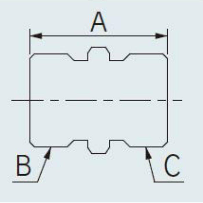 9657 配管継手 異径ニップル 20×13