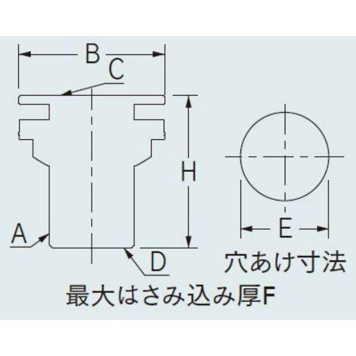 6171-25 配管継手 タンク取付金具 25