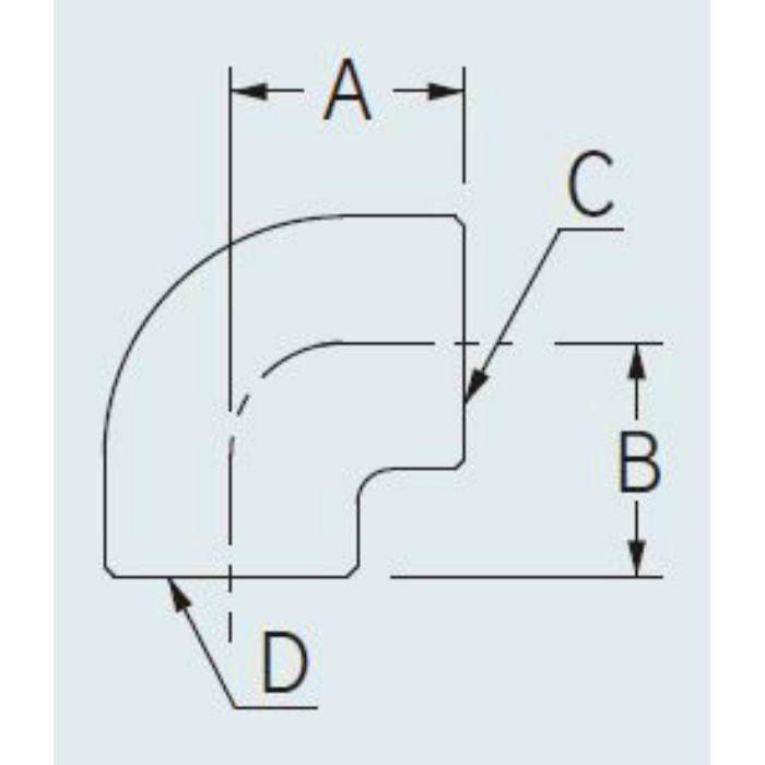 6125A-20X13 配管継手 エルボ(クローム) 20×13