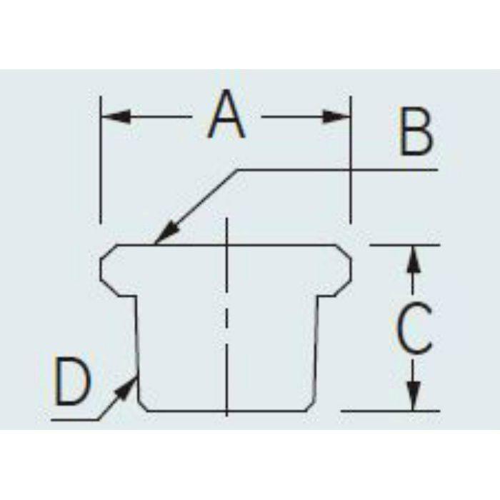 6167A-20X13 配管継手 ブッシング(クローム) 20×13