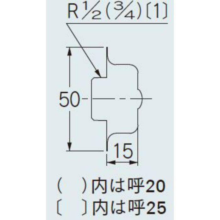 6120-25 配管継手 化粧プラグ 25