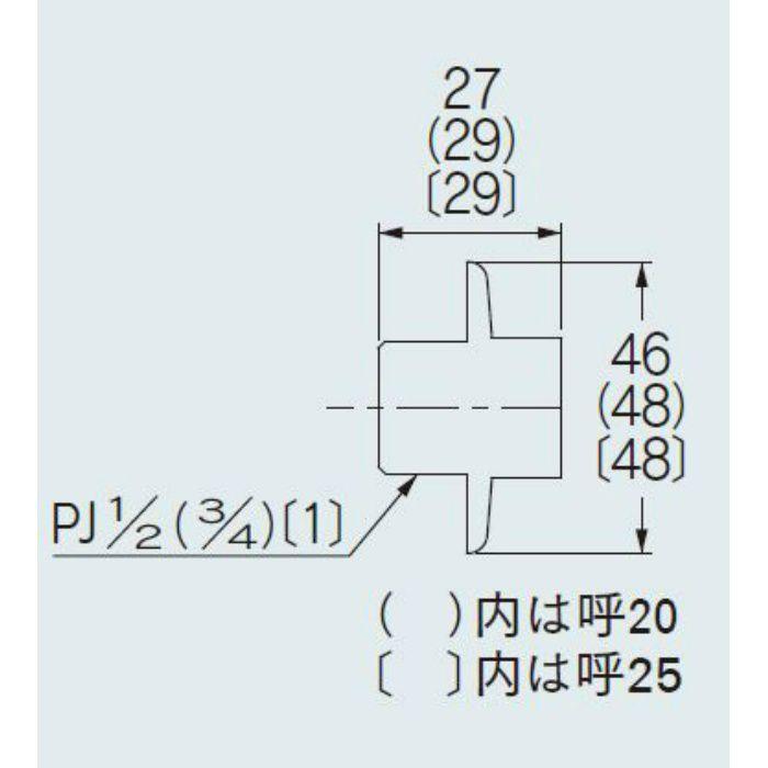613-504 配管継手 給水栓プラグ 25