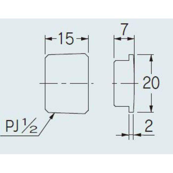 616-810-13 配管継手 フラットプラグ 13