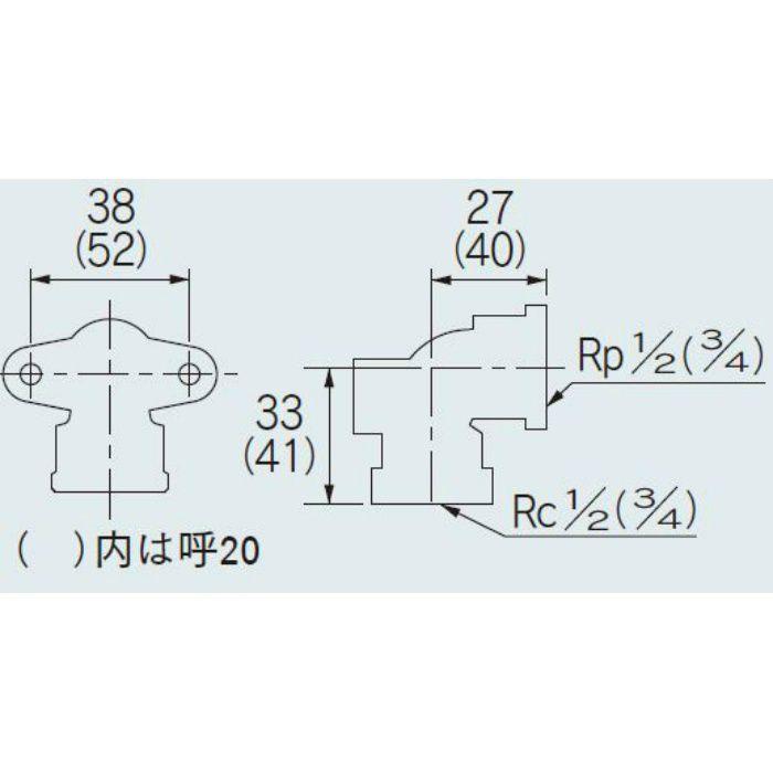 6198-13 配管継手 座付水栓エルボ 13