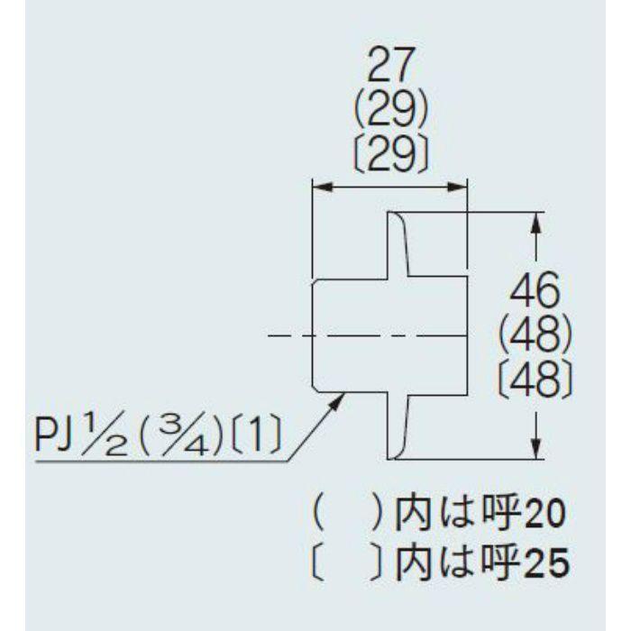 9635-20 配管継手 給水プラグ 20