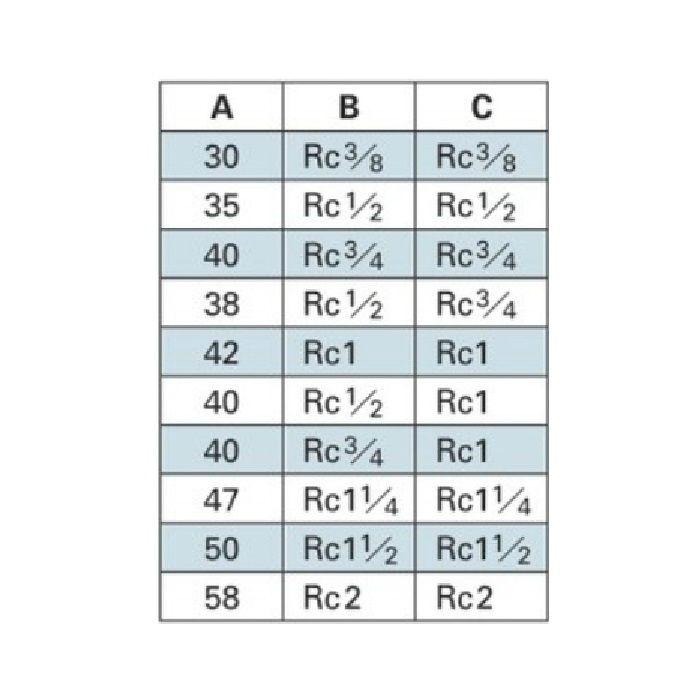 6127-40 配管継手 砲金ソケット 40