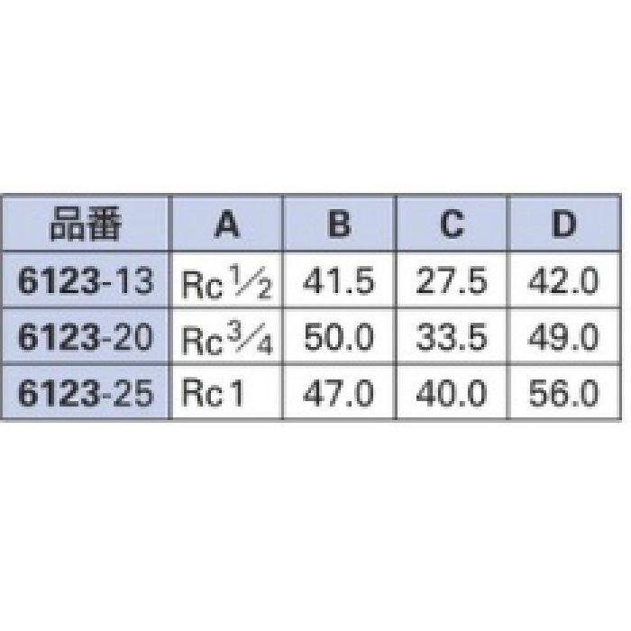 6123-20 配管継手 砲金ユニオン 20