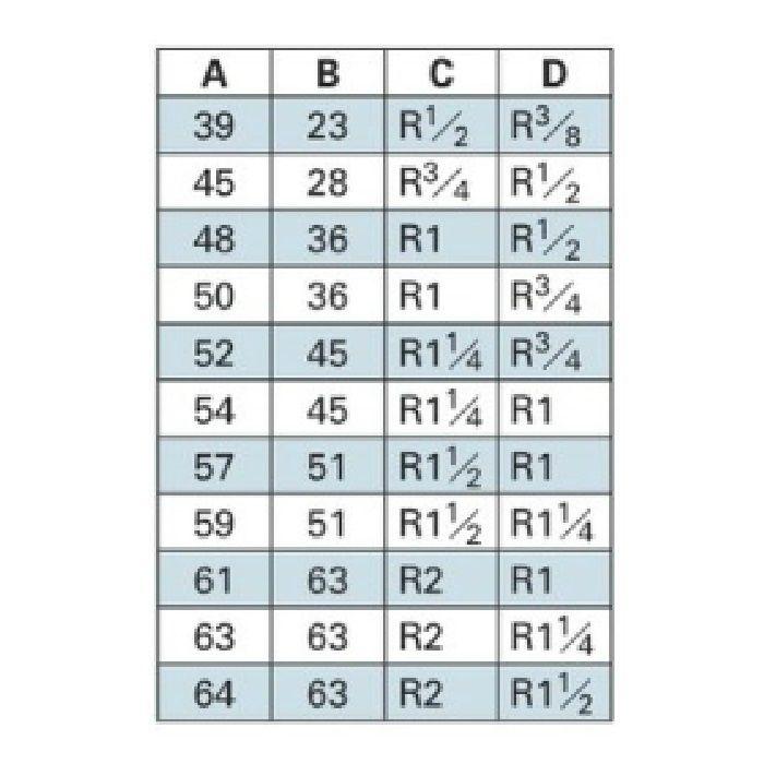 6474-20X13 配管継手 ステンレス六角ニップル 20×13