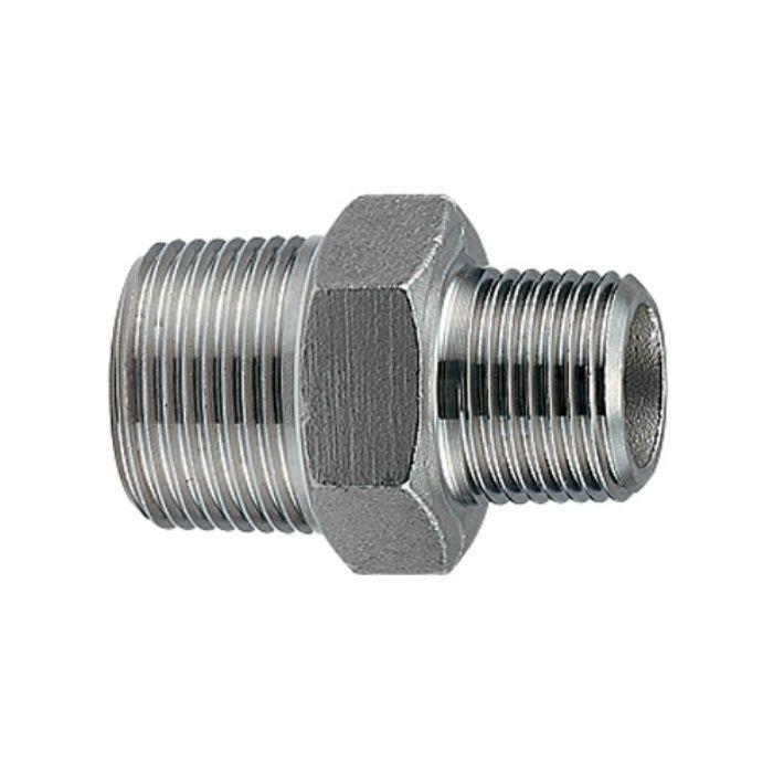6474-30X25 配管継手 ステンレス六角ニップル 30×25