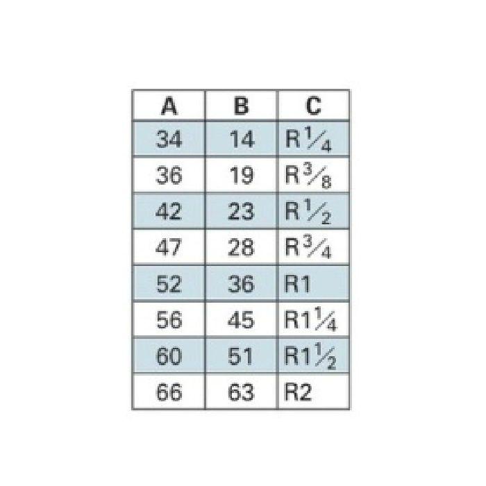 6474-40 配管継手 ステンレス六角ニップル 40