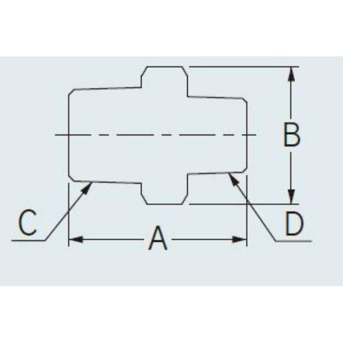 6474-40X25 配管継手 ステンレス六角ニップル 40×25