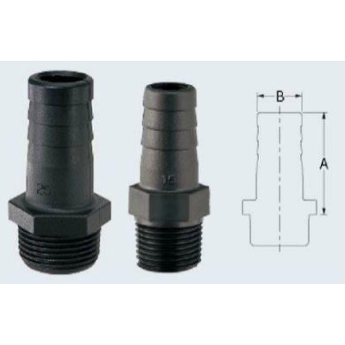 6497-15 配管継手 樹脂製ホースニップル
