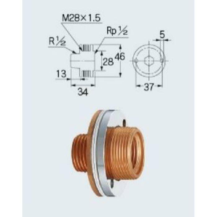 6455 配管継手 パネル式ユニット取出し金具13