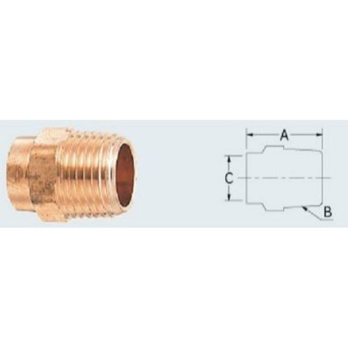 6696-25X28.58 配管継手 銅管外ネジアダプター
