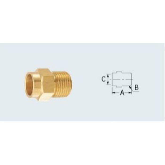 6182-13X22.22 配管継手 フレキ接続銅管アダプター