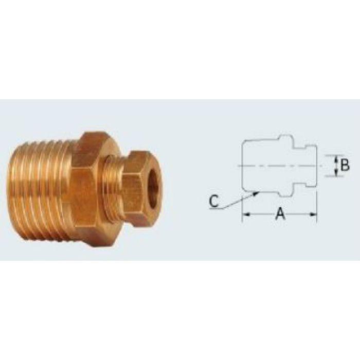 668-008 配管継手 銅管用リングジョイント