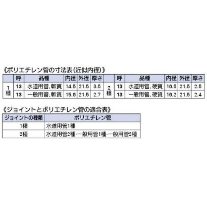 6157 配管継手 ポリパイチーズ2種13