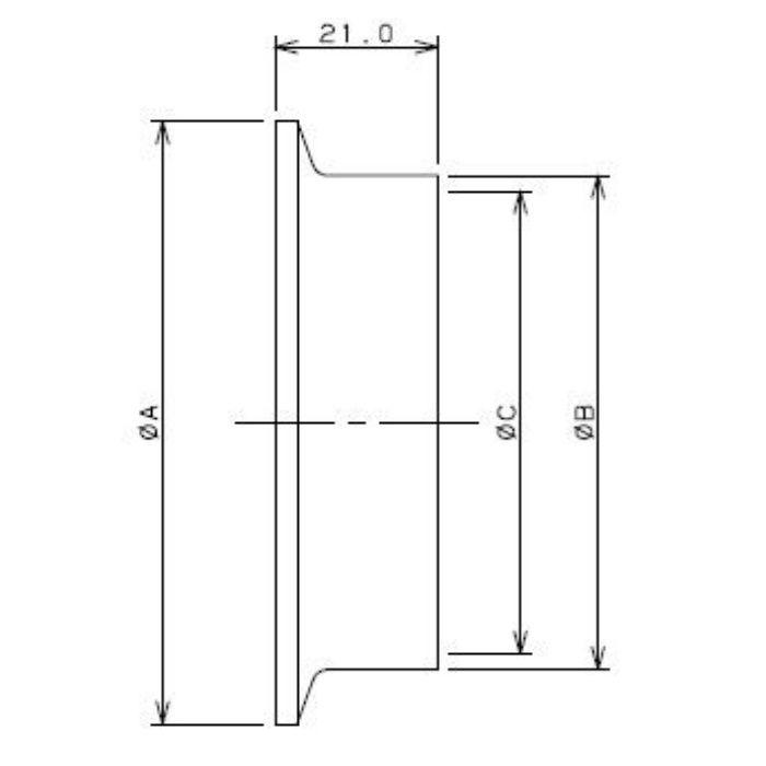 690-01-F 工場設備継手 溶接ヘルール 3S