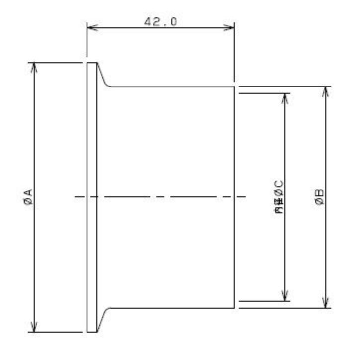 690-02-E 工場設備継手 ロングヘルール 2.5S