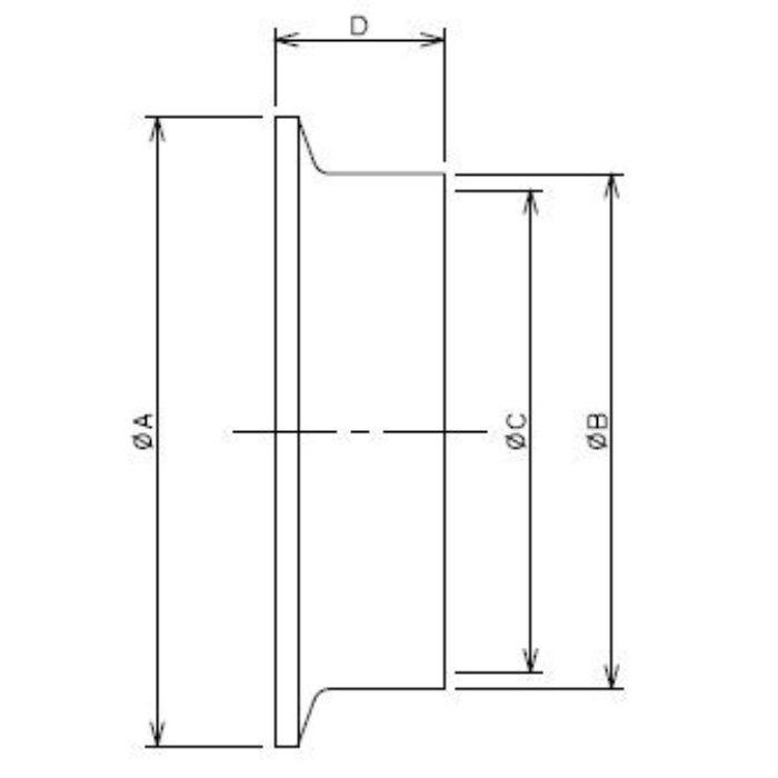 691-01-C 工場設備継手 溶接ヘルール 1.5S