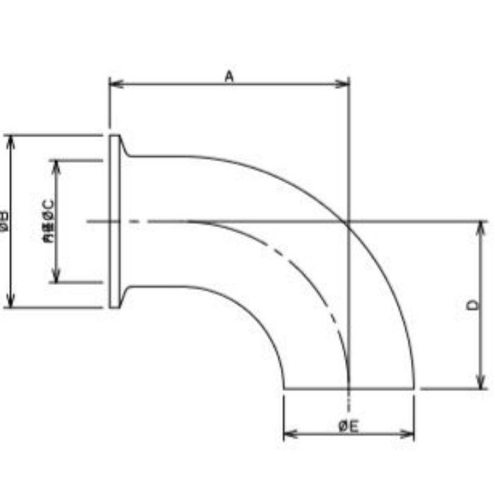 691-06-A 工場設備継手 片ヘルールエルボ 1S