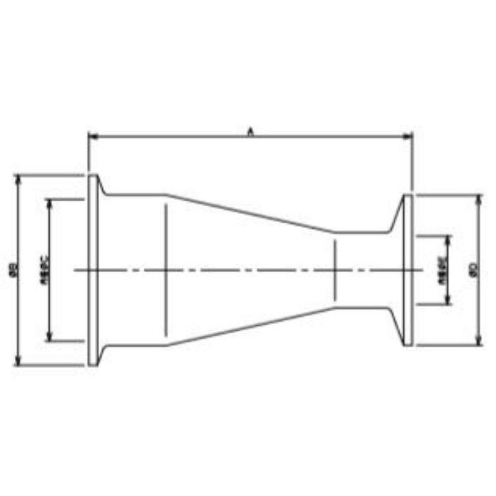 690-08-DXA 工場設備継手 ヘルール同芯レデューサー 2S×1S