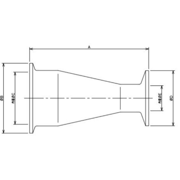 691-08-DXC 工場設備継手 ヘルール同芯レデューサー 2S×1.5S