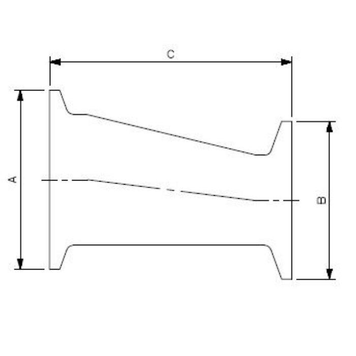 691-09-DXC 工場設備継手 ヘルール偏芯レデューサー 2S×1.5S