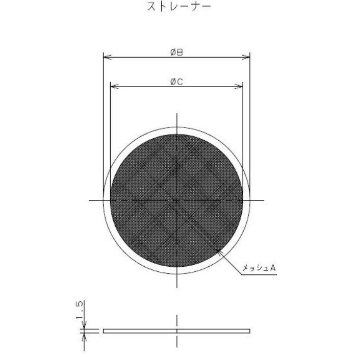 690-37-E 工場設備継手 ヘルールストレーナー 2.5S #100