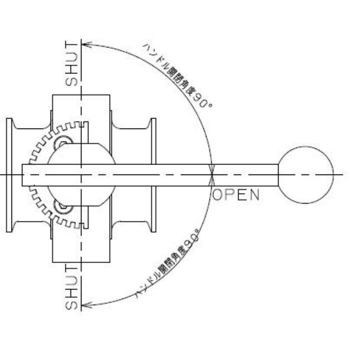 691-30-F 工場設備継手 サニタリーバタフライバルブ 3S