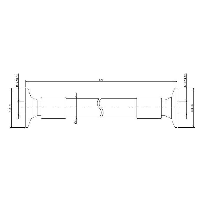 691-34-AX1500 工場設備継手 サニタリーホース 1500mm