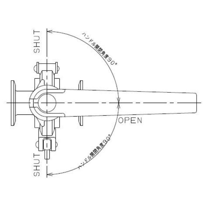 691-35-A 工場設備継手 サニタリーバタフライバルブ(分割式) 1S