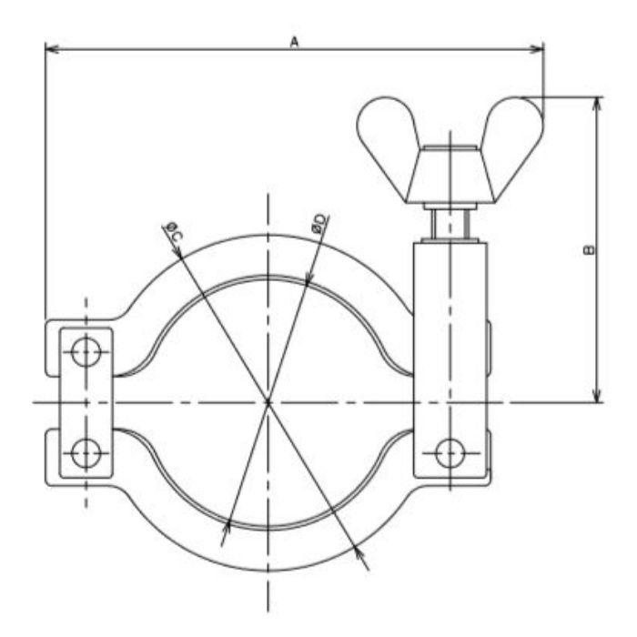690-10-K 工場設備継手 低圧クランプ 10A