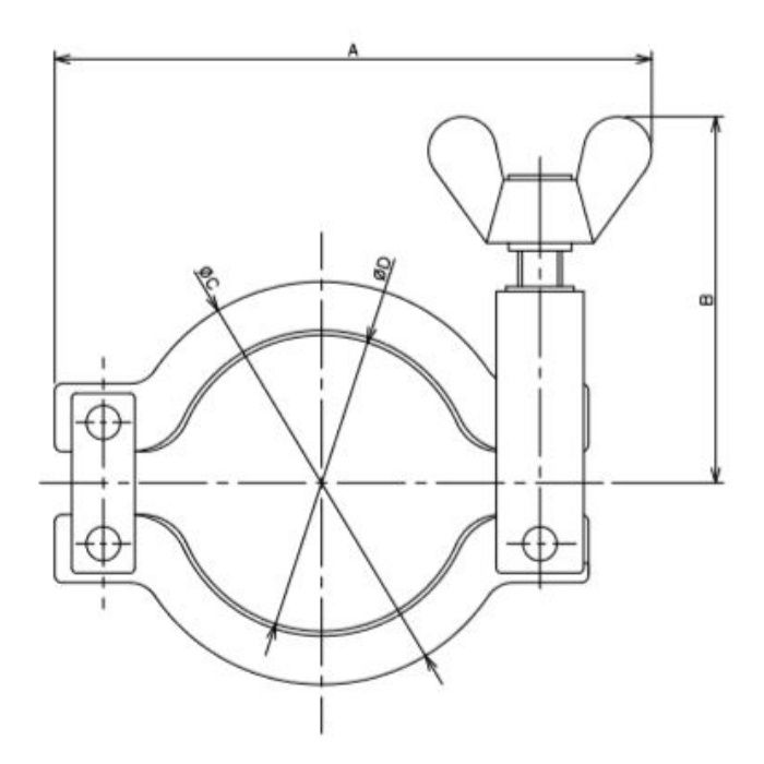 690-10-L 工場設備継手 低圧クランプ 15A