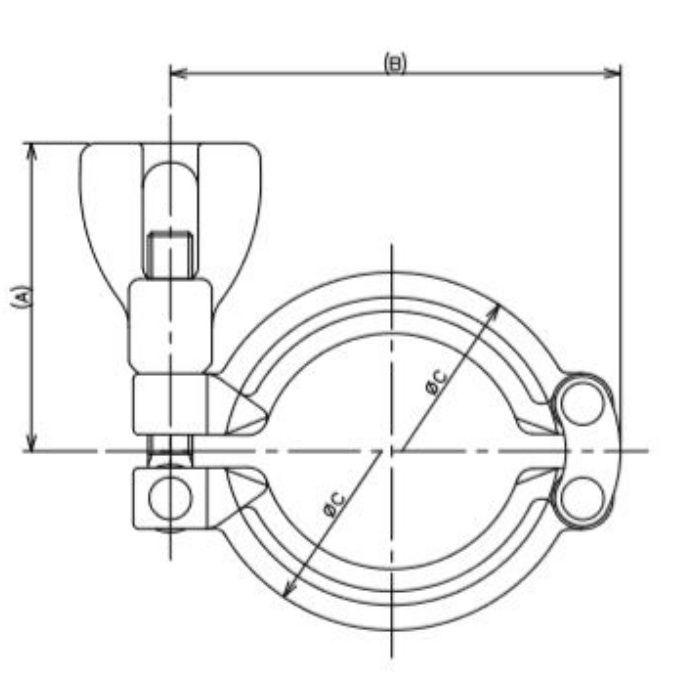 690-11-C 工場設備継手 中・高圧クランプ 1.5S
