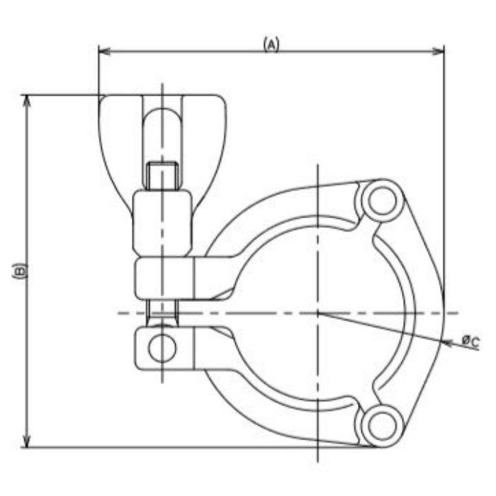 690-12-C 工場設備継手 3Kクランプ 1.5S