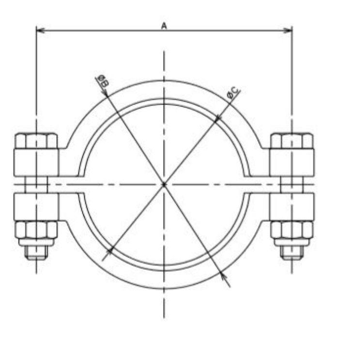 690-13-F 工場設備継手 2Dクランプ 3S