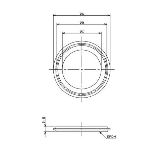 690-15-C 工場設備継手 ヘルールガスケット 1.5S